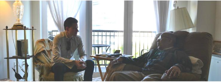 Mr. Braxton talks with Albin